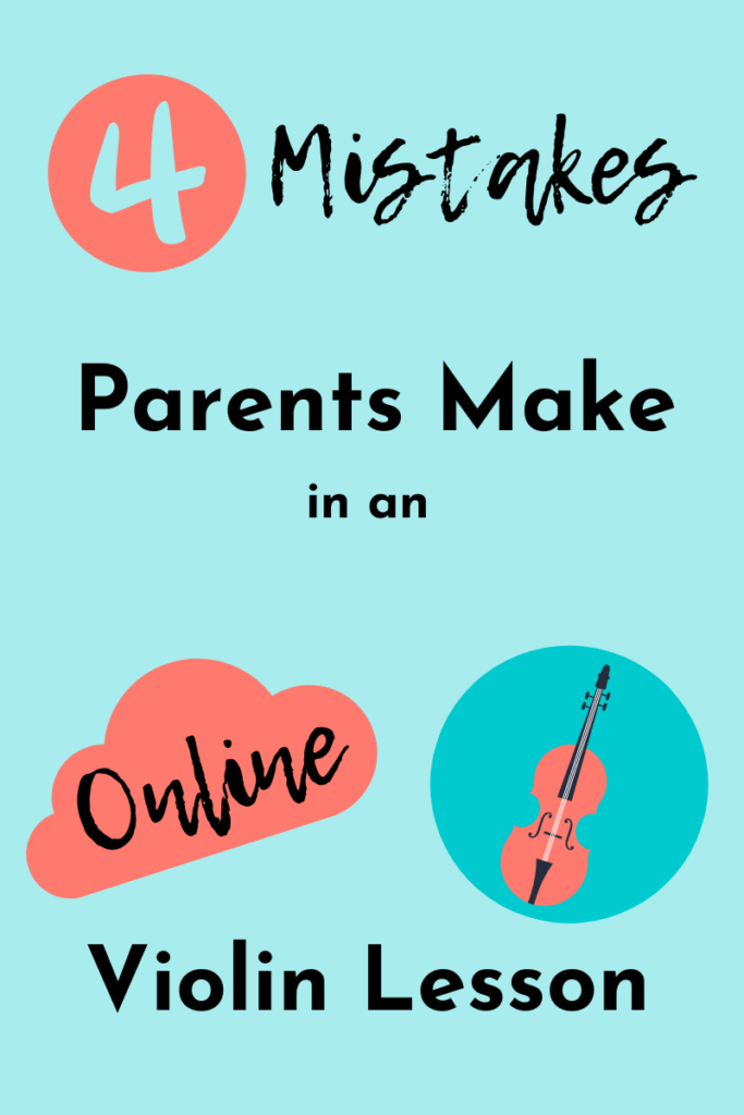 online violin lesson mistake